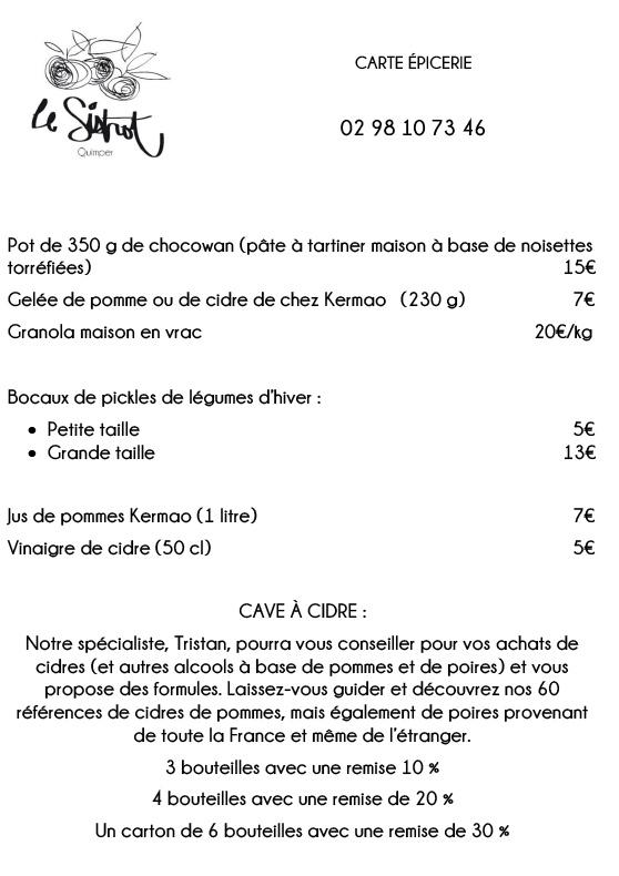 Le Sistrot Epicerie - Restaurant Quimper à Emporter
